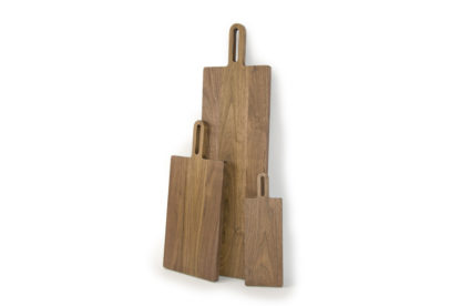 Walnut wooden chopping Boards, made in Ireland using sustainable wood, by Coolree Design. Irish chopping boards are perfect for cutting bread and for serving cheese and wine