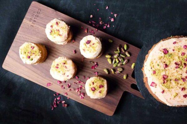 Irish made chopping board, serving cakes