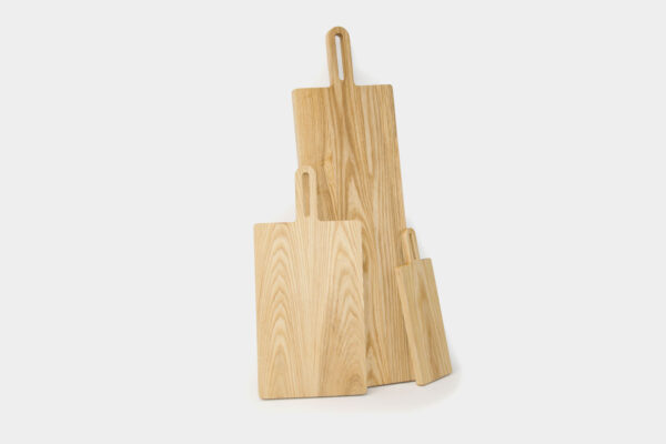 Modern Irish chopping boards, used for serving