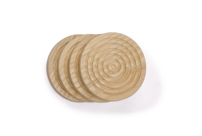 Round wooden coasters to protect your table from tea and drink stains. Irish made wood coasters used in modern homes