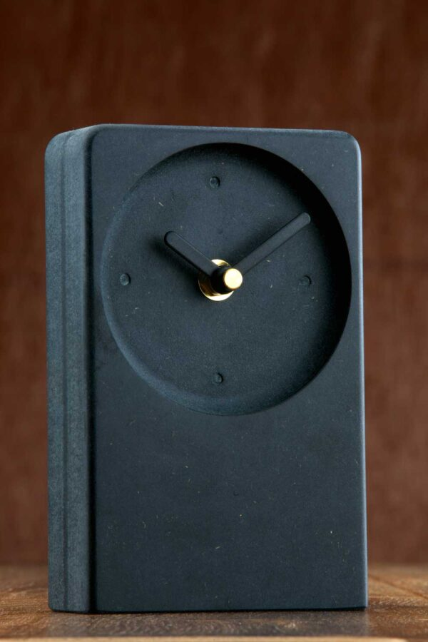 Modern Irish made, black desk clock