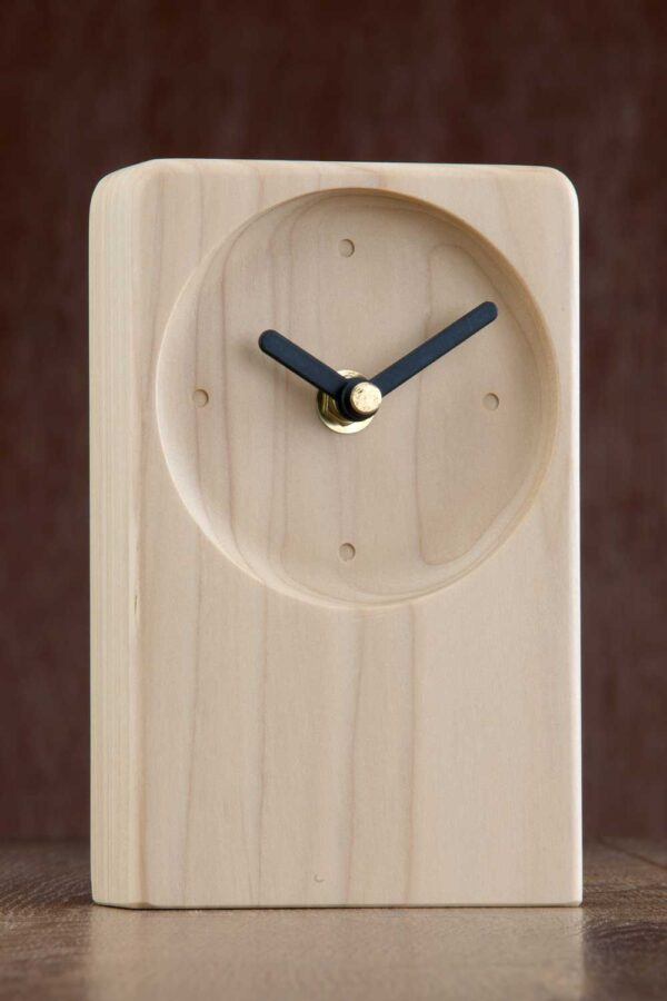 Modern wood desk clock