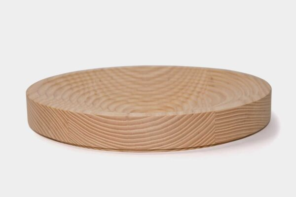 Modern, round Irish fruit bowl, made from wood