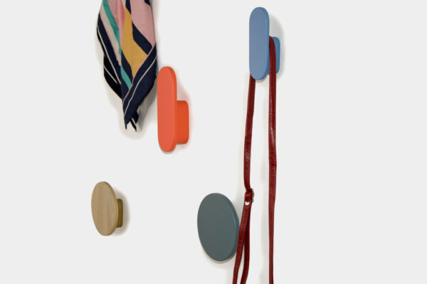 Colourful coat hooks, hand made in Ireland