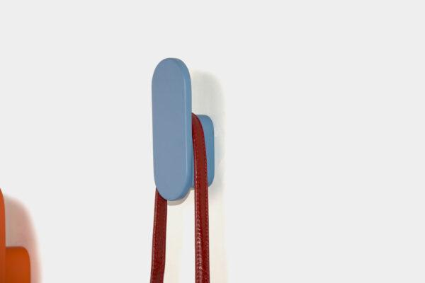 Blue wall hook, Irish made coat hook
