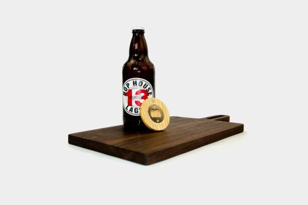 Modern Irish bottle opener and choping board