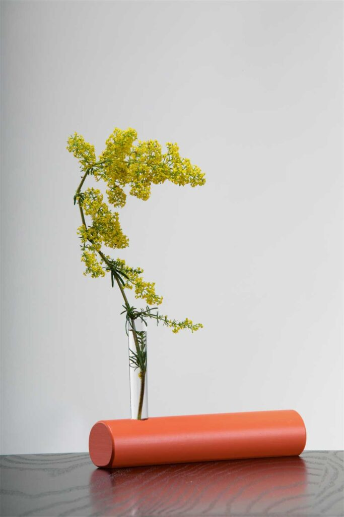 Modern Irish flower vase, with wild Irish flowers