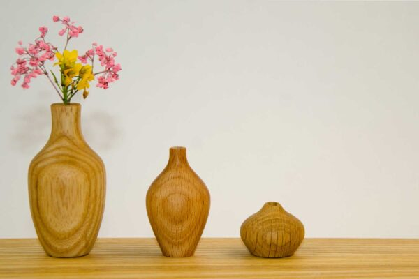 Irish made miniature flower vase set